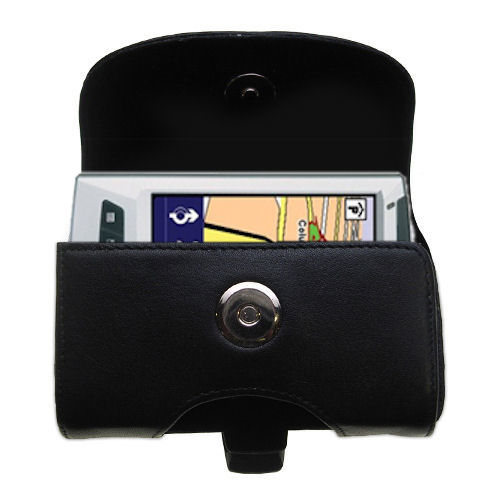 Black Leather Case for TomTom Navigator 5