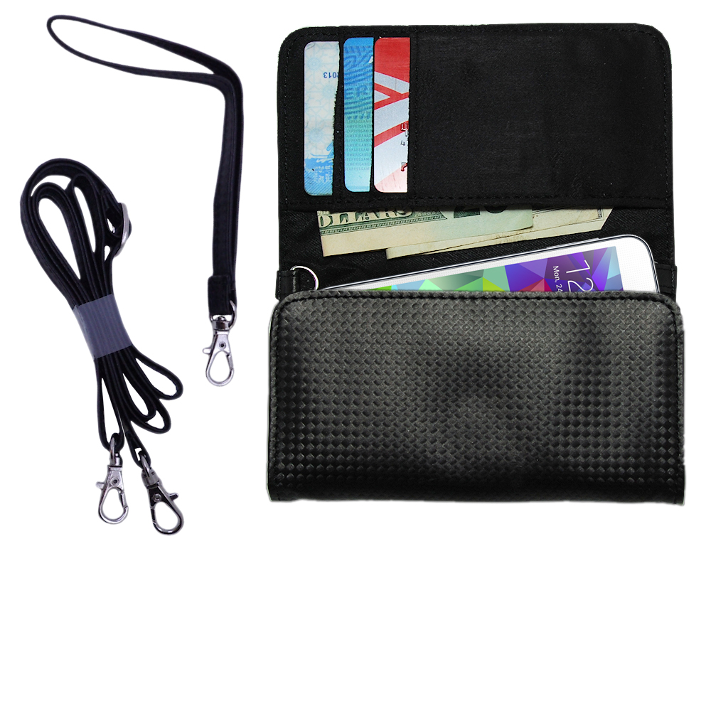 Purse Handbag Case for the Samsung S5 with both a hand and shoulder loop - Color Options Blue Pink White Black and Red