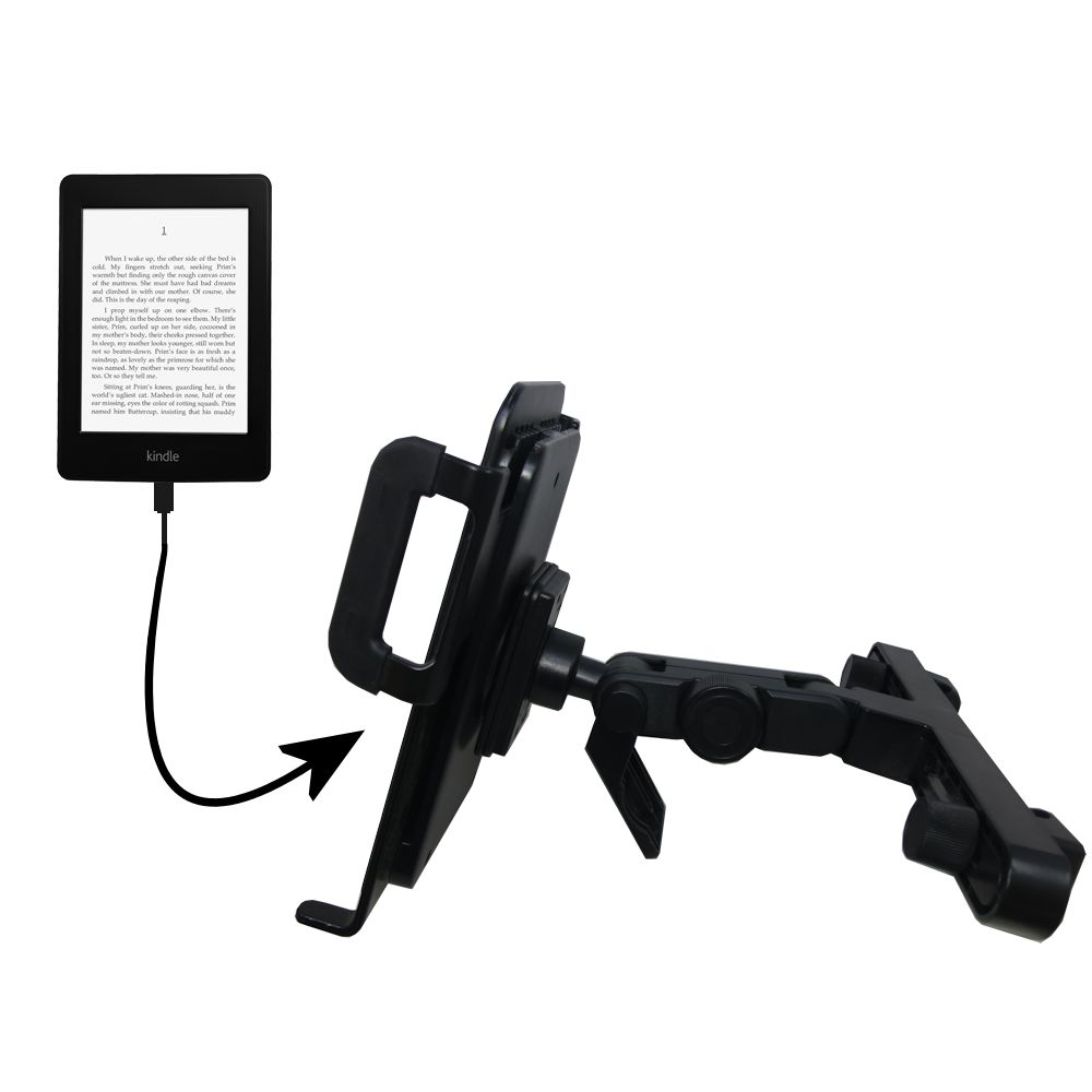 Gomadic Brand Unique Vehicle Headrest Display Mount for the Amazon Kindle Paperwhite