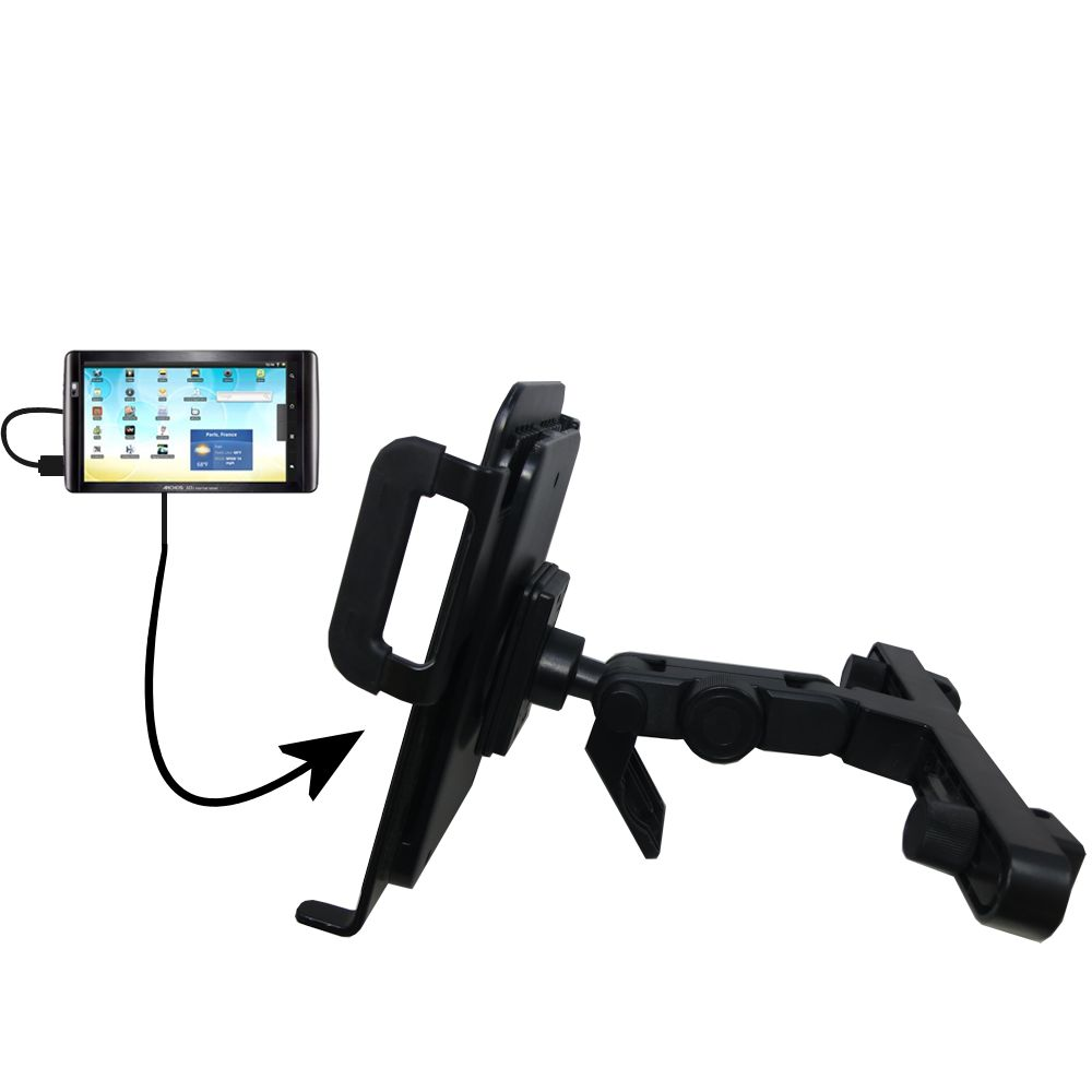 Gomadic Brand Unique Vehicle Headrest Display Mount for the Archos 101 Internet Tablet