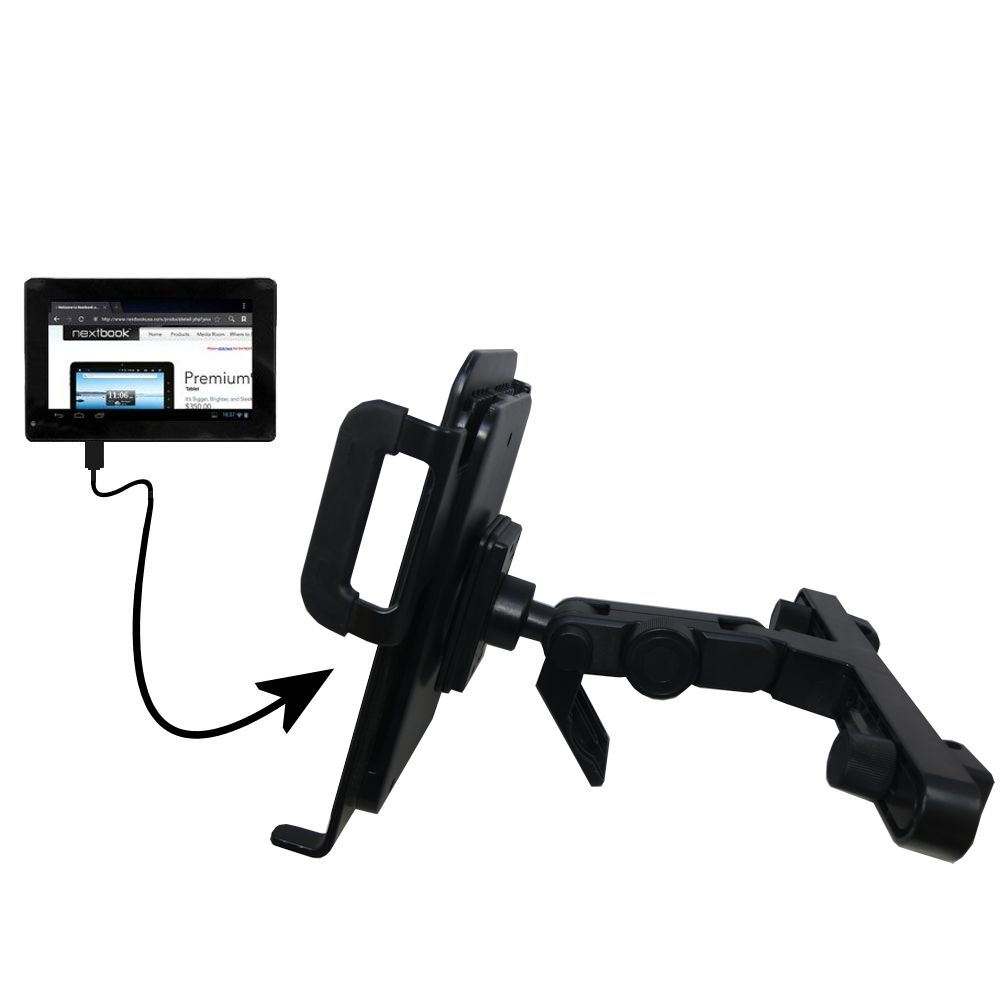 Gomadic Brand Unique Vehicle Headrest Display Mount for the Nextbook Premium 7SE Next7P12