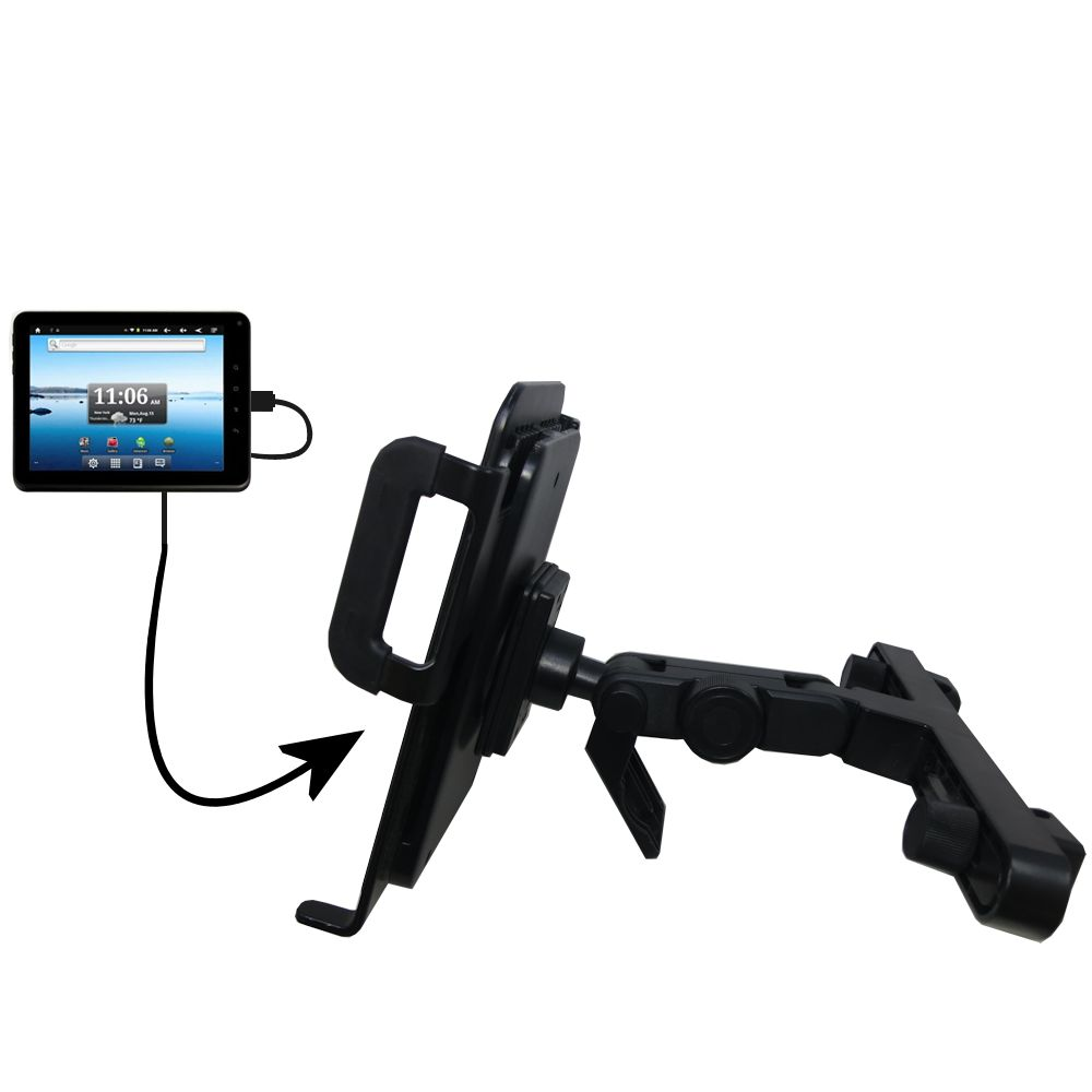 Gomadic Brand Unique Vehicle Headrest Display Mount for the Nextbook Premium8 Tablet