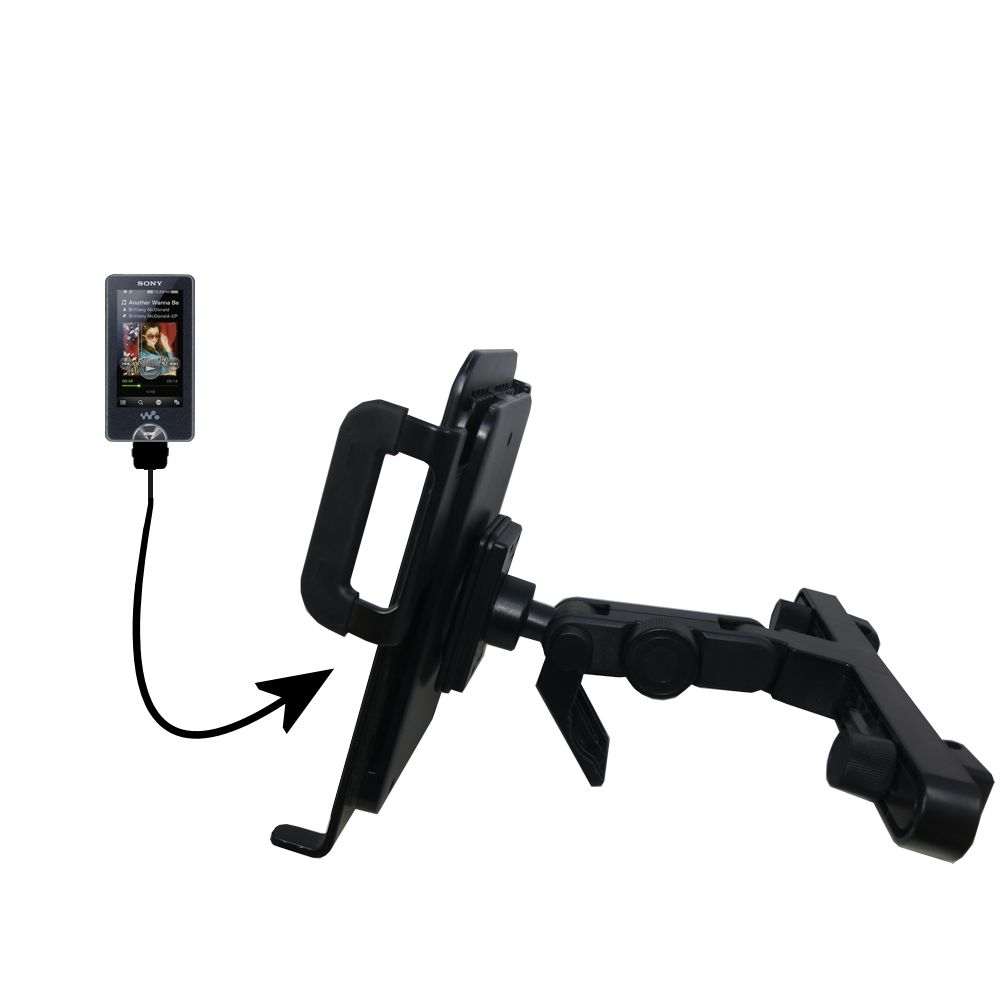 Gomadic Brand Unique Vehicle Headrest Display Mount for the Sony X Series