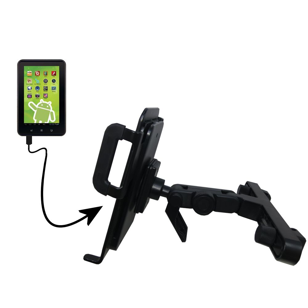 Gomadic Brand Unique Vehicle Headrest Display Mount for the Zeki 7 Tablet TB782B