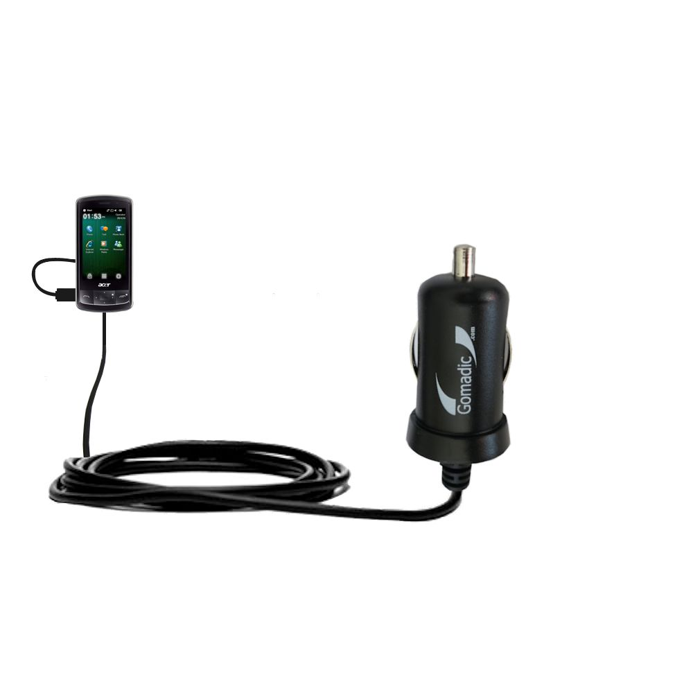 Mini Car Charger compatible with the Acer beTouch E200 E210
