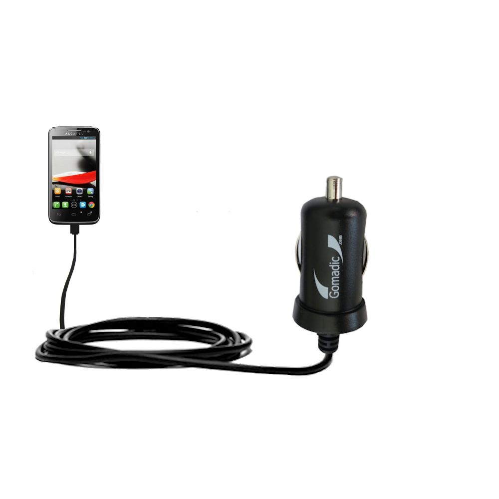 Mini Car Charger compatible with the Alcatel One Touch Fierce