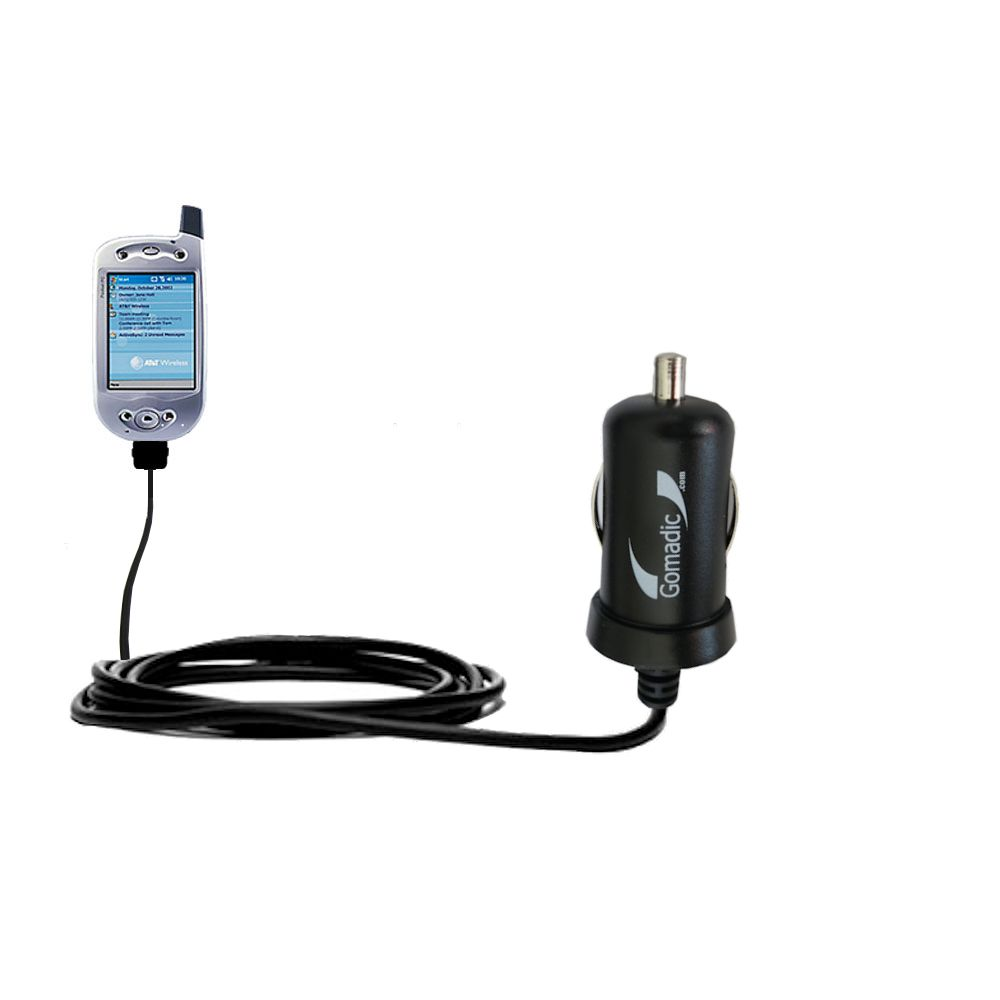 Gomadic Intelligent Compact Car / Auto DC Charger suitable for the HTC Falcon Smartphone - 2A / 10W power at half the size. Uses Gomadic TipExchange Technology