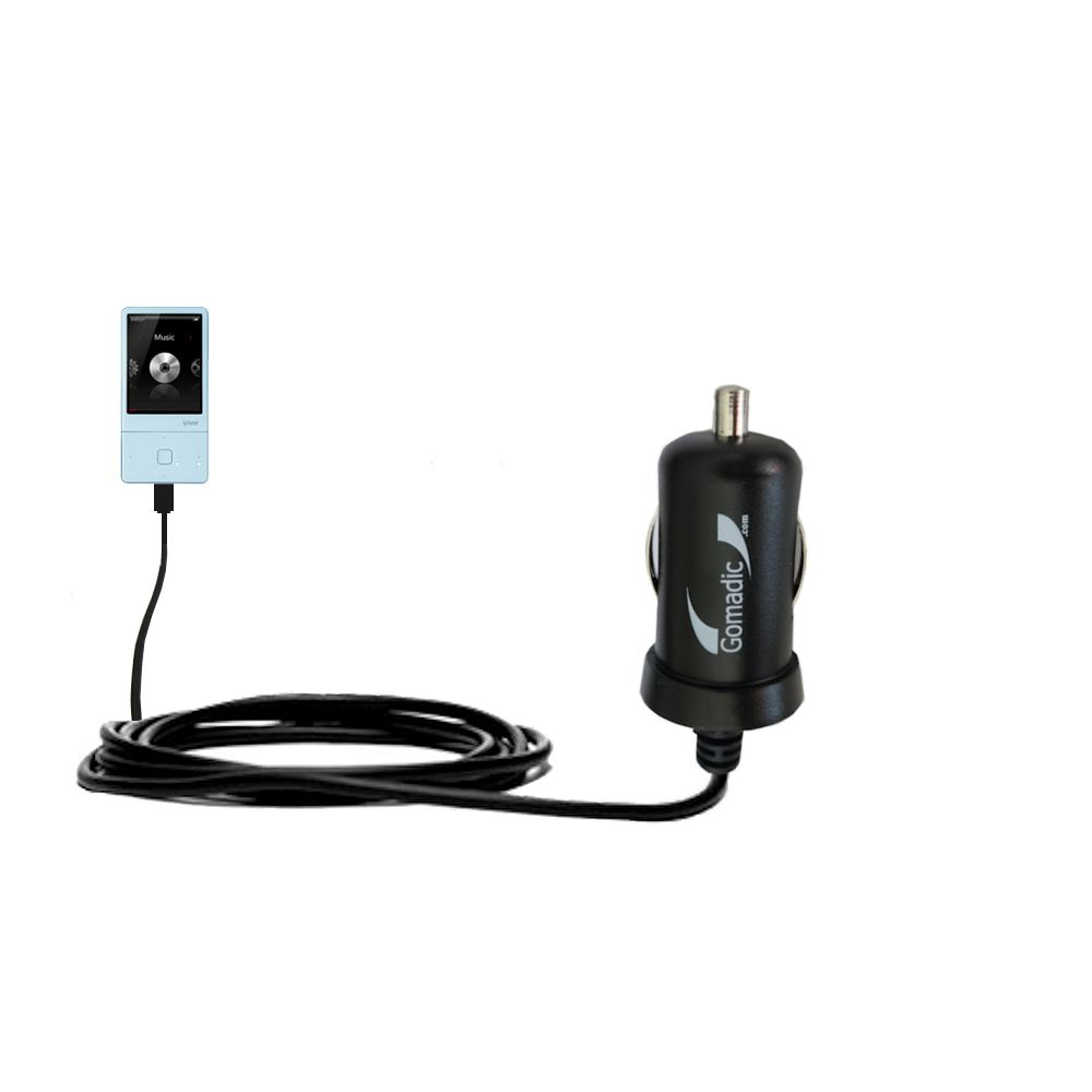 Gomadic Intelligent Compact Car / Auto DC Charger suitable for the iRiver E300 - 2A / 10W power at half the size. Uses Gomadic TipExchange Technology