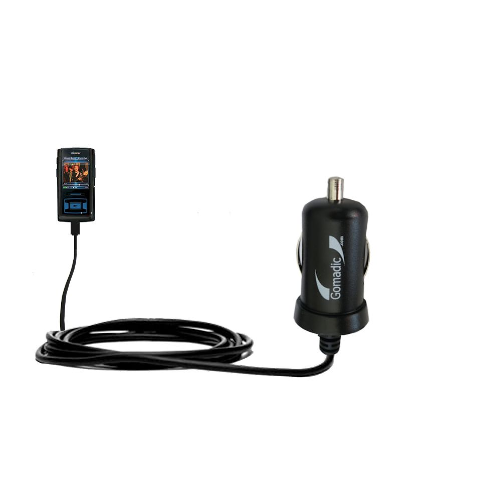 Gomadic Intelligent Compact Car / Auto DC Charger suitable for the Memorex MMP8620 MMP8640 - 2A / 10W power at half the size. Uses Gomadic TipExchange Technology