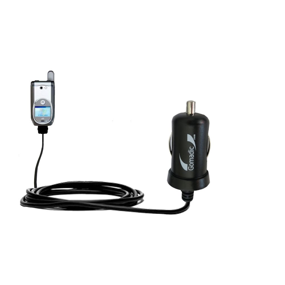 Gomadic Intelligent Compact Car / Auto DC Charger suitable for the Nextel i920 i930 - 2A / 10W power at half the size. Uses Gomadic TipExchange Technology