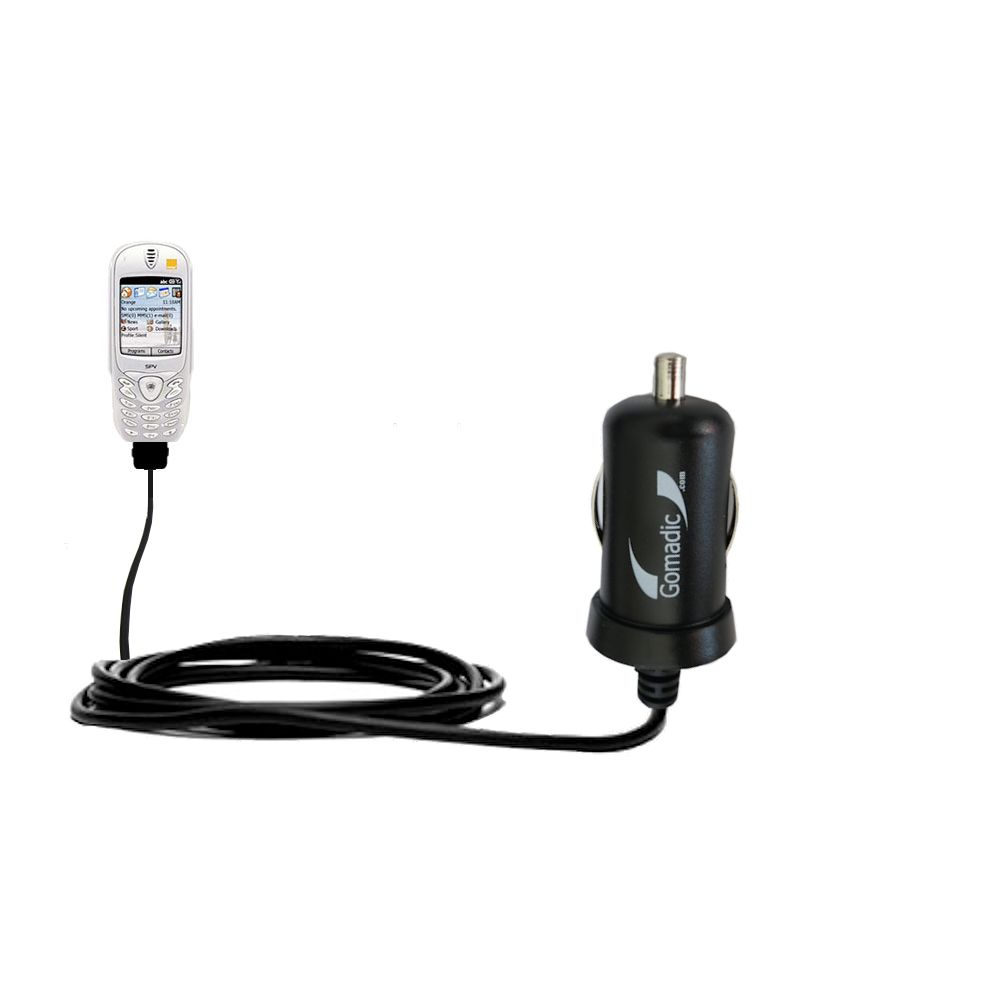 Gomadic Intelligent Compact Car / Auto DC Charger suitable for the Orange SPV Smartphone - 2A / 10W power at half the size. Uses Gomadic TipExchange Technology