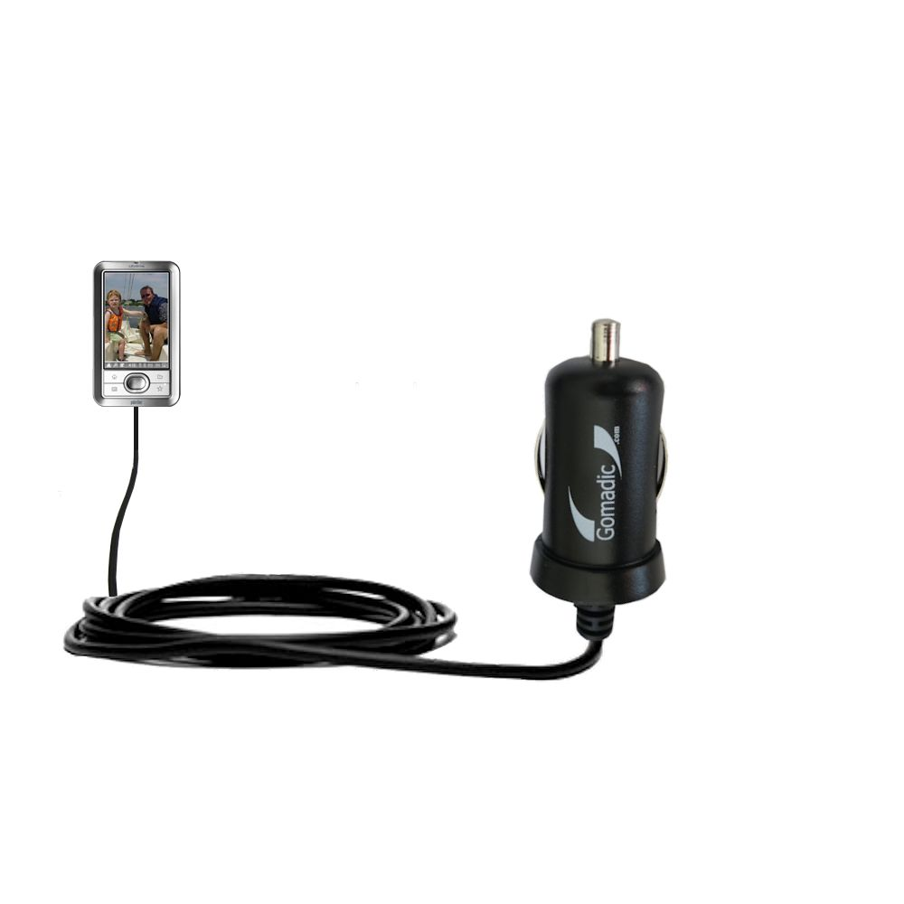 Gomadic Intelligent Compact Car / Auto DC Charger suitable for the Palm LifeDrive - 2A / 10W power at half the size. Uses Gomadic TipExchange Technology
