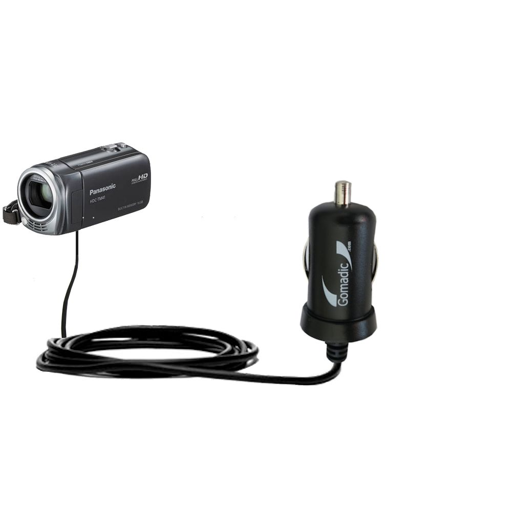 Mini Car Charger compatible with the Panasonic HDC-TM40 HDC-TM41