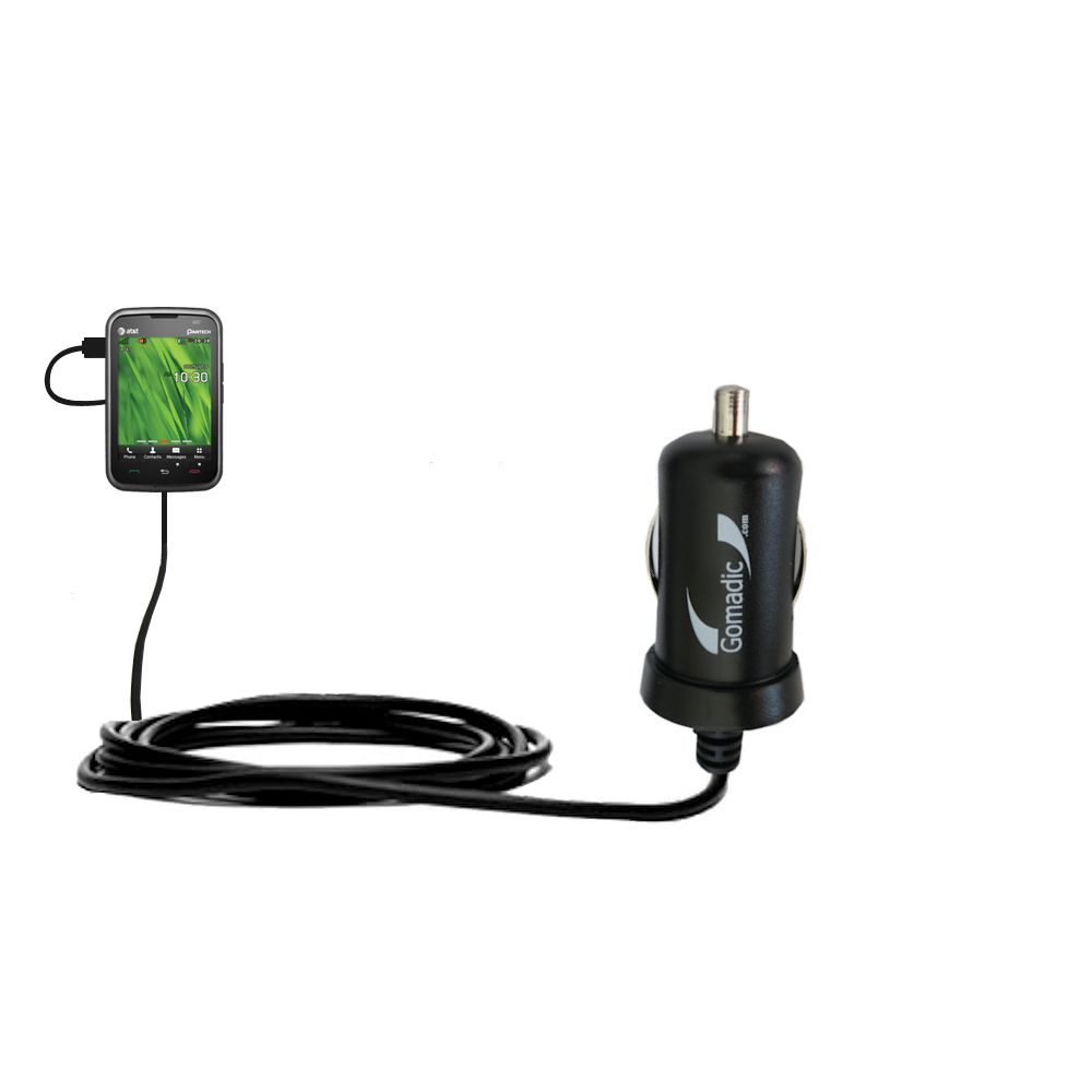 Gomadic Intelligent Compact Car / Auto DC Charger suitable for the Pantech Renue - 2A / 10W power at half the size. Uses Gomadic TipExchange Technology