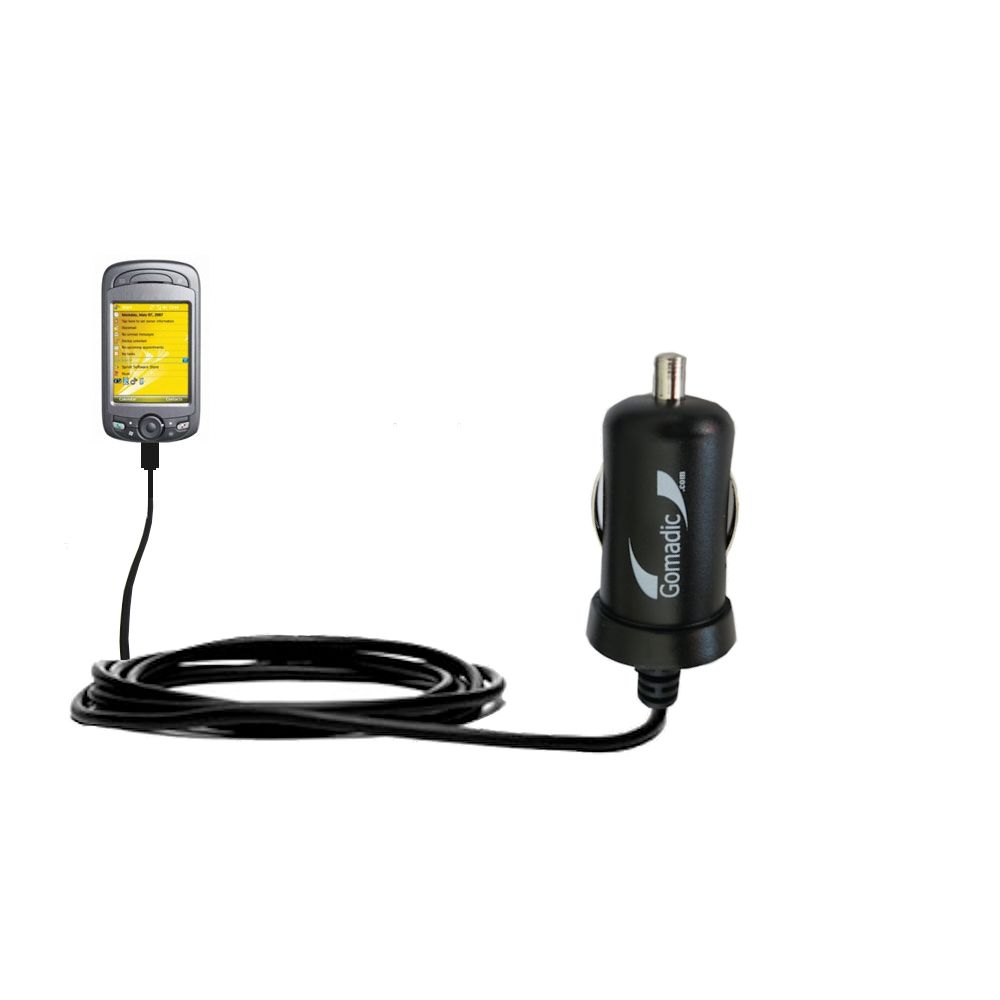 Gomadic Intelligent Compact Car / Auto DC Charger suitable for the Sprint PPC-6800 - 2A / 10W power at half the size. Uses Gomadic TipExchange Technology