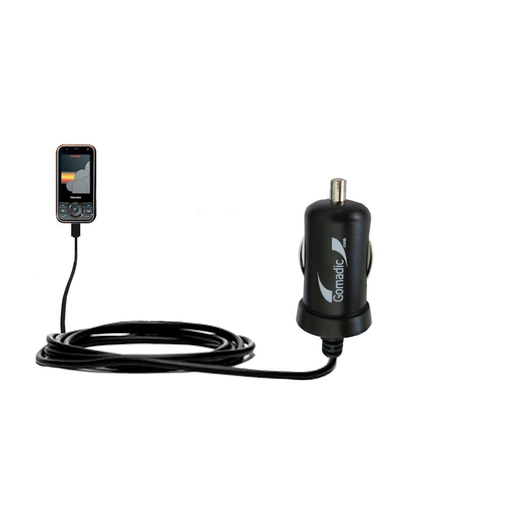 Gomadic Intelligent Compact Car / Auto DC Charger suitable for the Toshiba G500 - 2A / 10W power at half the size. Uses Gomadic TipExchange Technology