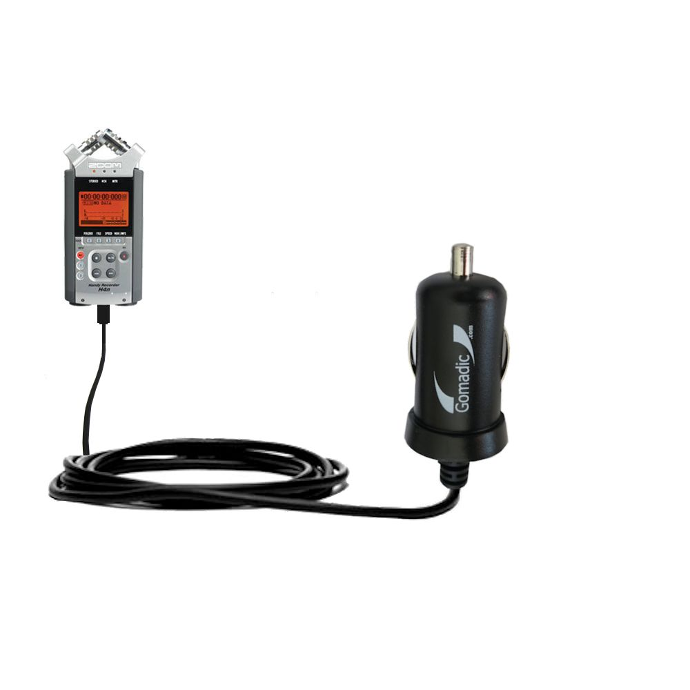Mini Car Charger compatible with the Zoom H4n