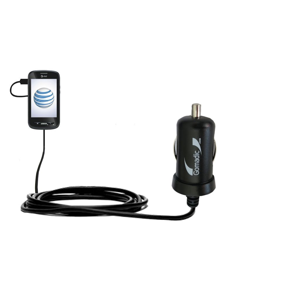 Gomadic Intelligent Compact Car / Auto DC Charger suitable for the ZTE Merit Z990G - 2A / 10W power at half the size. Uses Gomadic TipExchange Technology