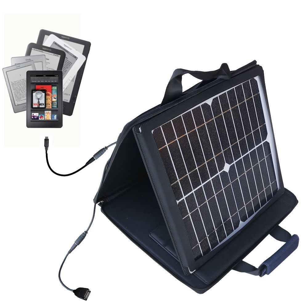 Gomadic SunVolt High Output Portable Solar Power Station designed for the Amazon Kindle Fire HD / HDX / DX / Touch / Keyboard / WiFi / 3G - Can charge multiple devices with outlet speeds