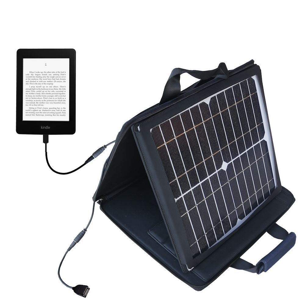 Gomadic SunVolt High Output Portable Solar Power Station designed for the Amazon Kindle Paperwhite - Can charge multiple devices with outlet speeds