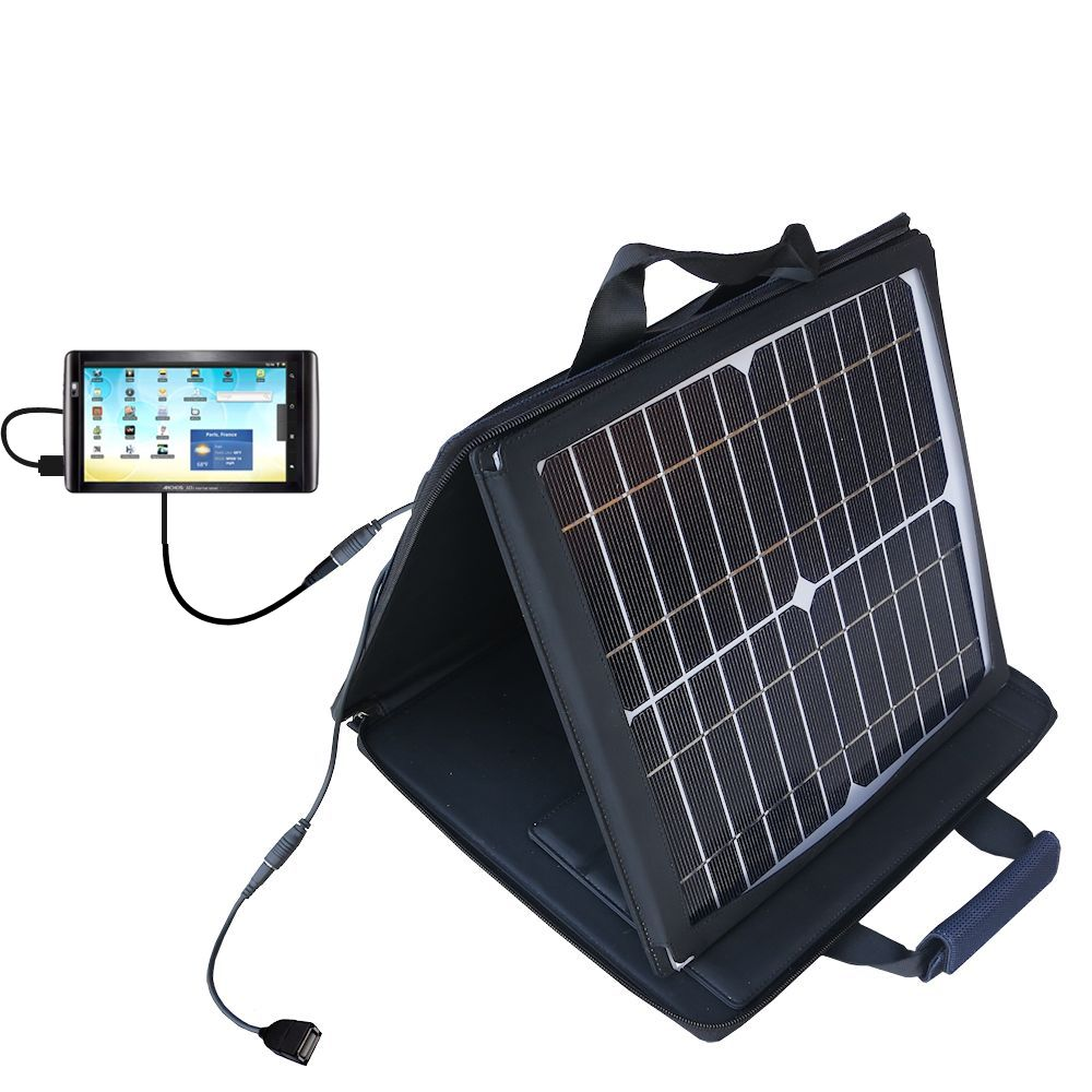 Gomadic SunVolt High Output Portable Solar Power Station designed for the Archos 101 Internet Tablet - Can charge multiple devices with outlet speeds