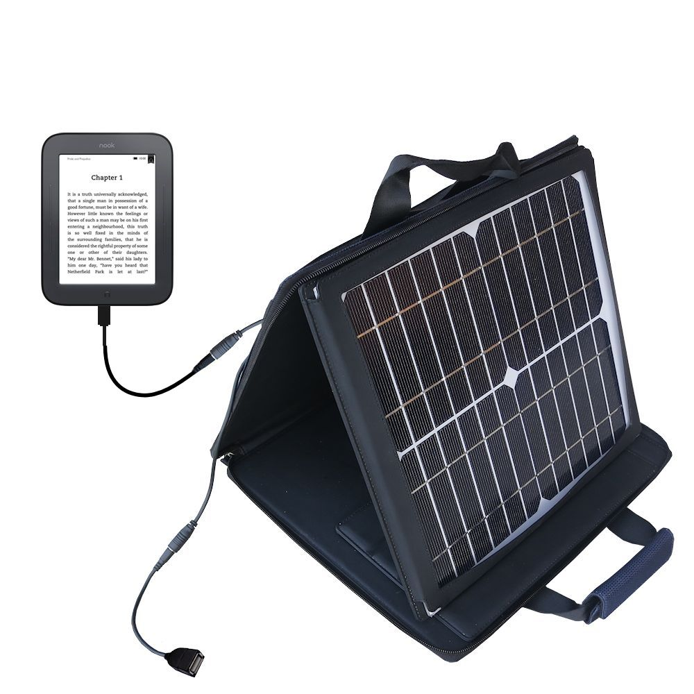 Gomadic SunVolt High Output Portable Solar Power Station designed for the Barnes and Noble nook Original eBook eReader - Can charge multiple devices with outlet speeds