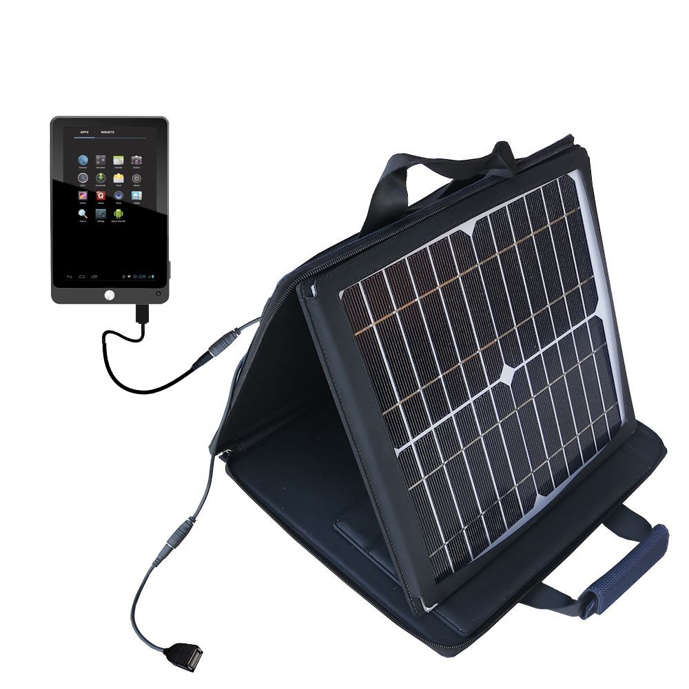 Gomadic SunVolt High Output Portable Solar Power Station designed for the Coby Kyros MID7042 MID7048 - Can charge multiple devices with outlet speeds