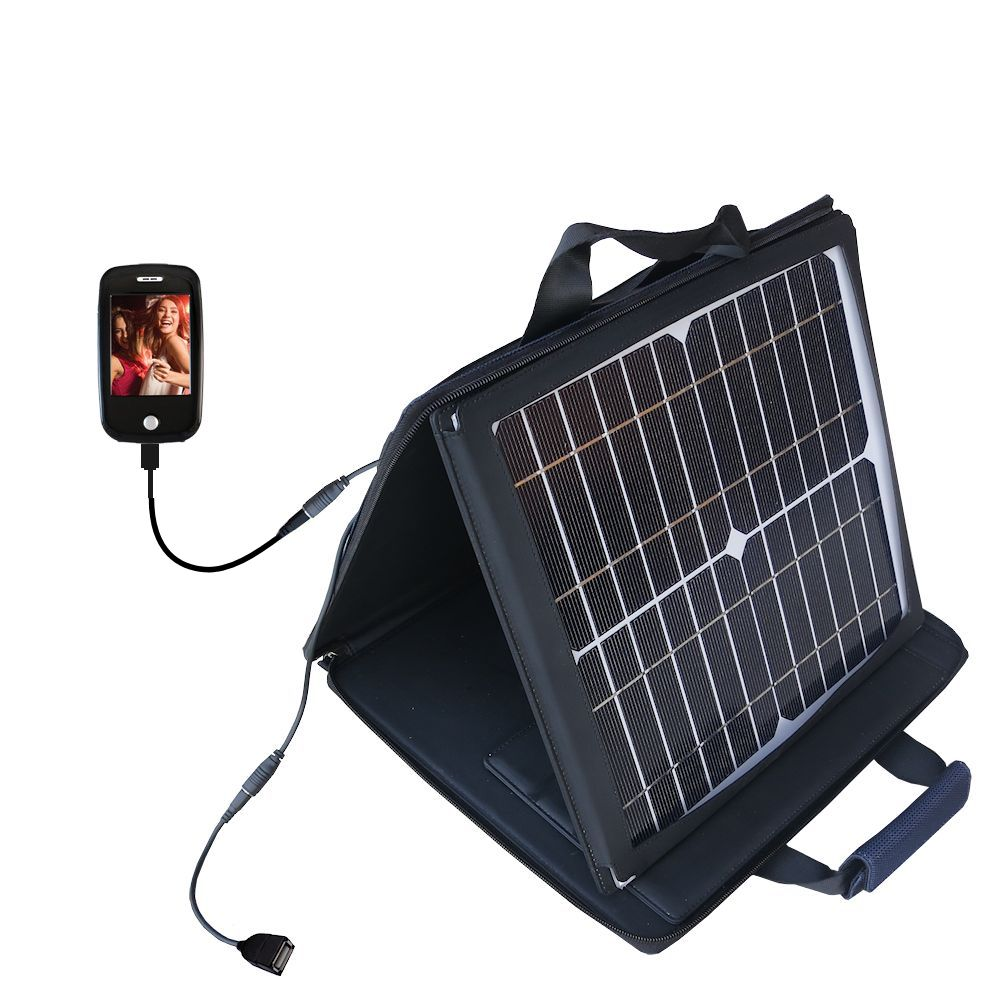 Gomadic SunVolt High Output Portable Solar Power Station designed for the Ematic E6 Series - Can charge multiple devices with outlet speeds