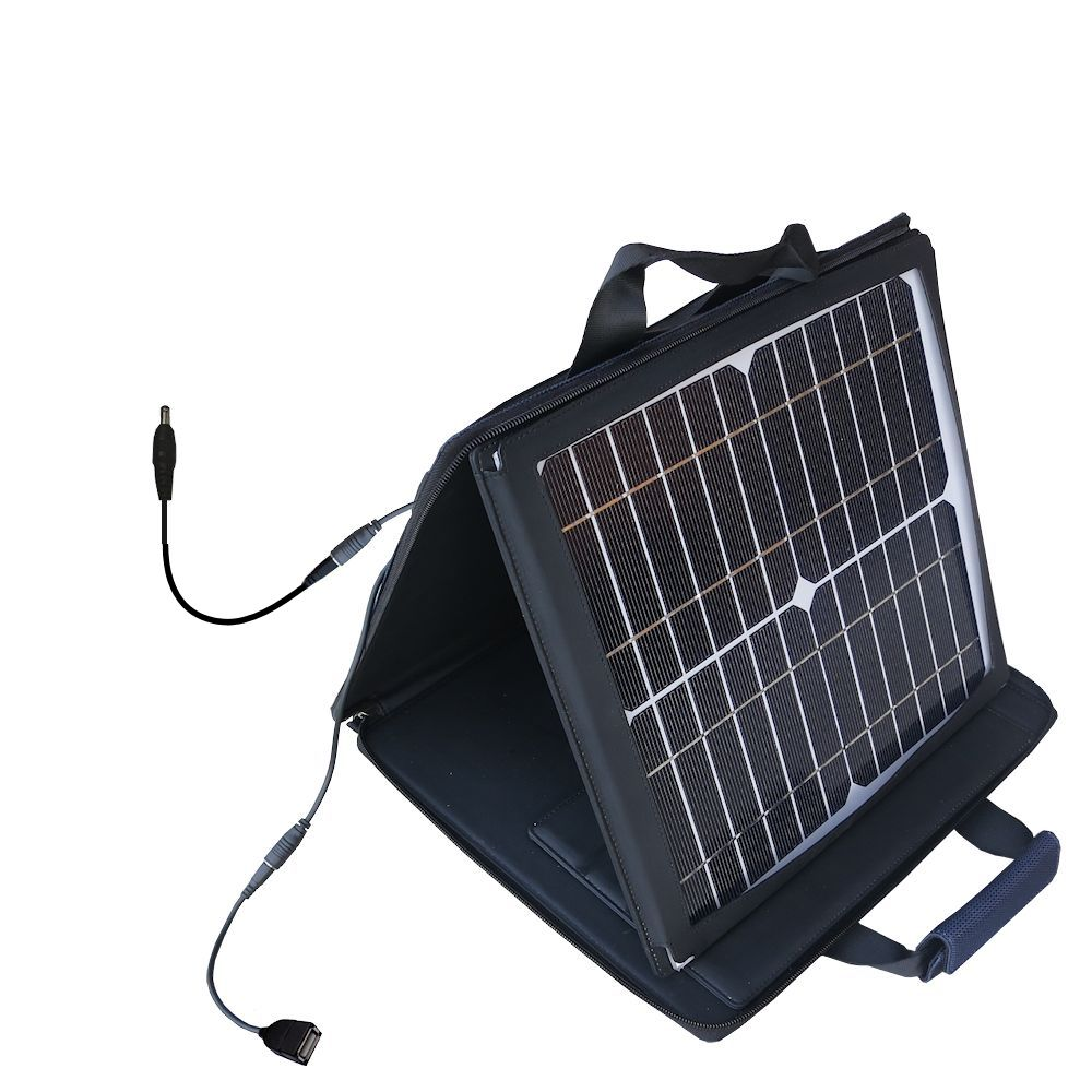 Gomadic SunVolt High Output Portable Solar Power Station designed for the Fuhu Nabi 2 / II (NABI2-NV7A NABI2-NVA) - Can charge multiple devices with outlet speeds