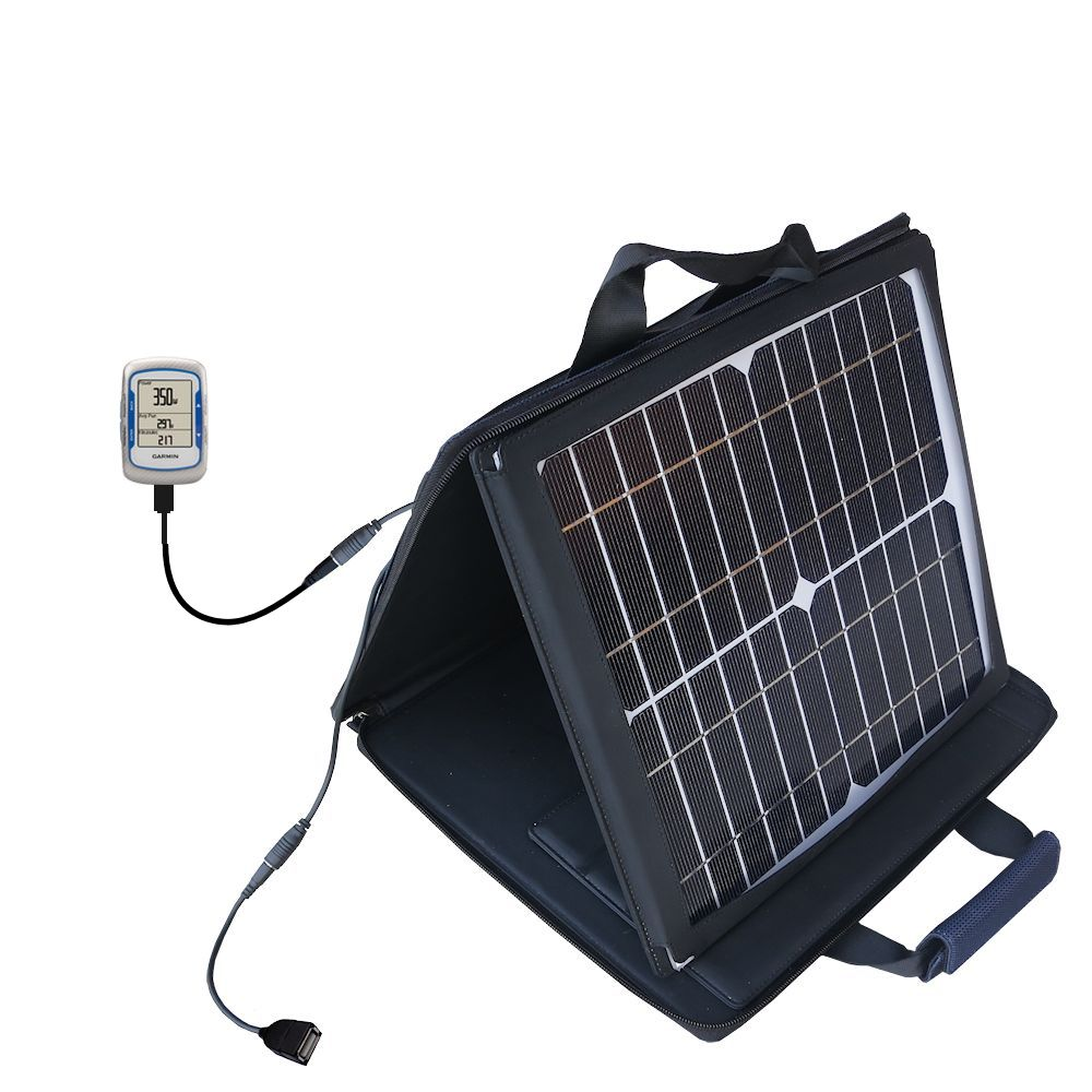 Gomadic SunVolt High Output Portable Solar Power Station designed for the Garmin EDGE 500 - Can charge multiple devices with outlet speeds