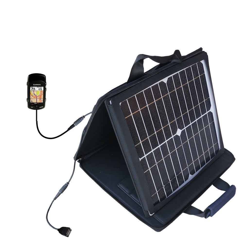 SunVolt Solar Charger compatible with the Garmin Edge 705 and one other device - charge from sun at wall outlet-like speed