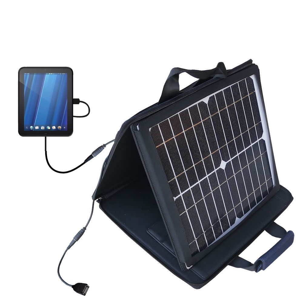 Gomadic SunVolt High Output Portable Solar Power Station designed for the HP TouchPad - Can charge multiple devices with outlet speeds