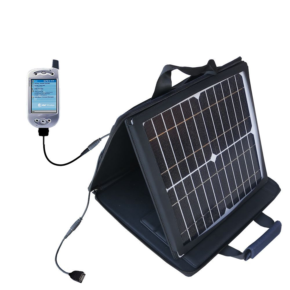 Gomadic SunVolt High Output Portable Solar Power Station designed for the HTC Falcon Smartphone - Can charge multiple devices with outlet speeds