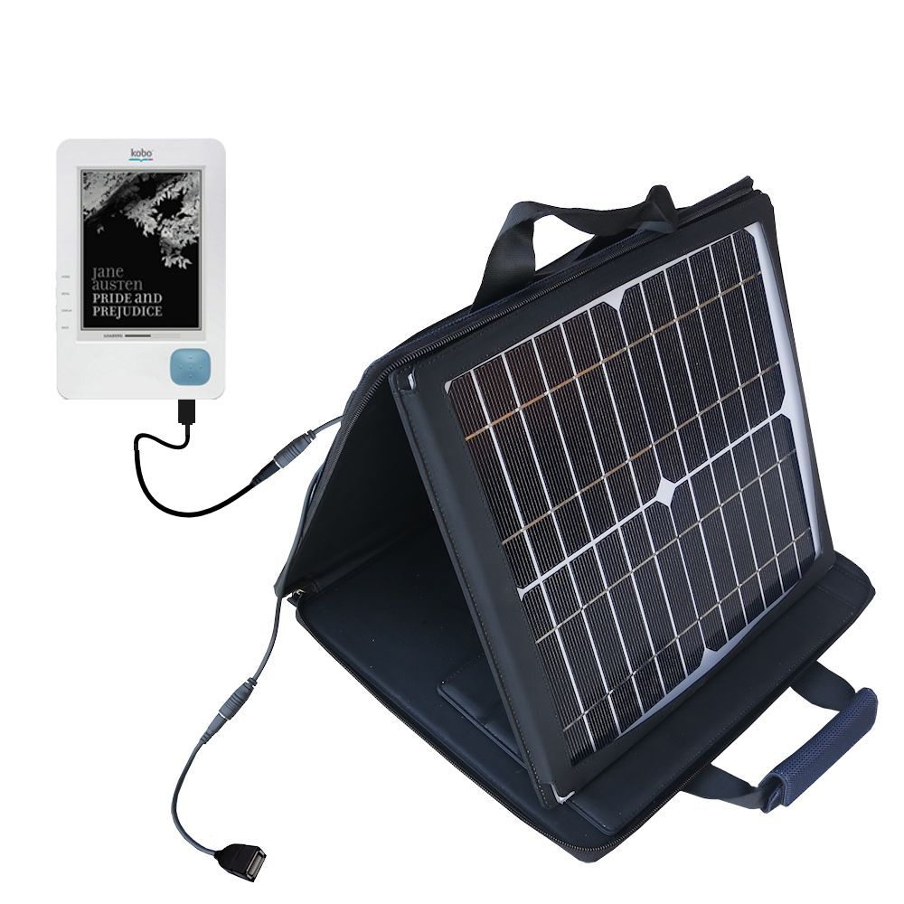 SunVolt Solar Charger compatible with the Kobo eReader and one other device - charge from sun at wall outlet-like speed