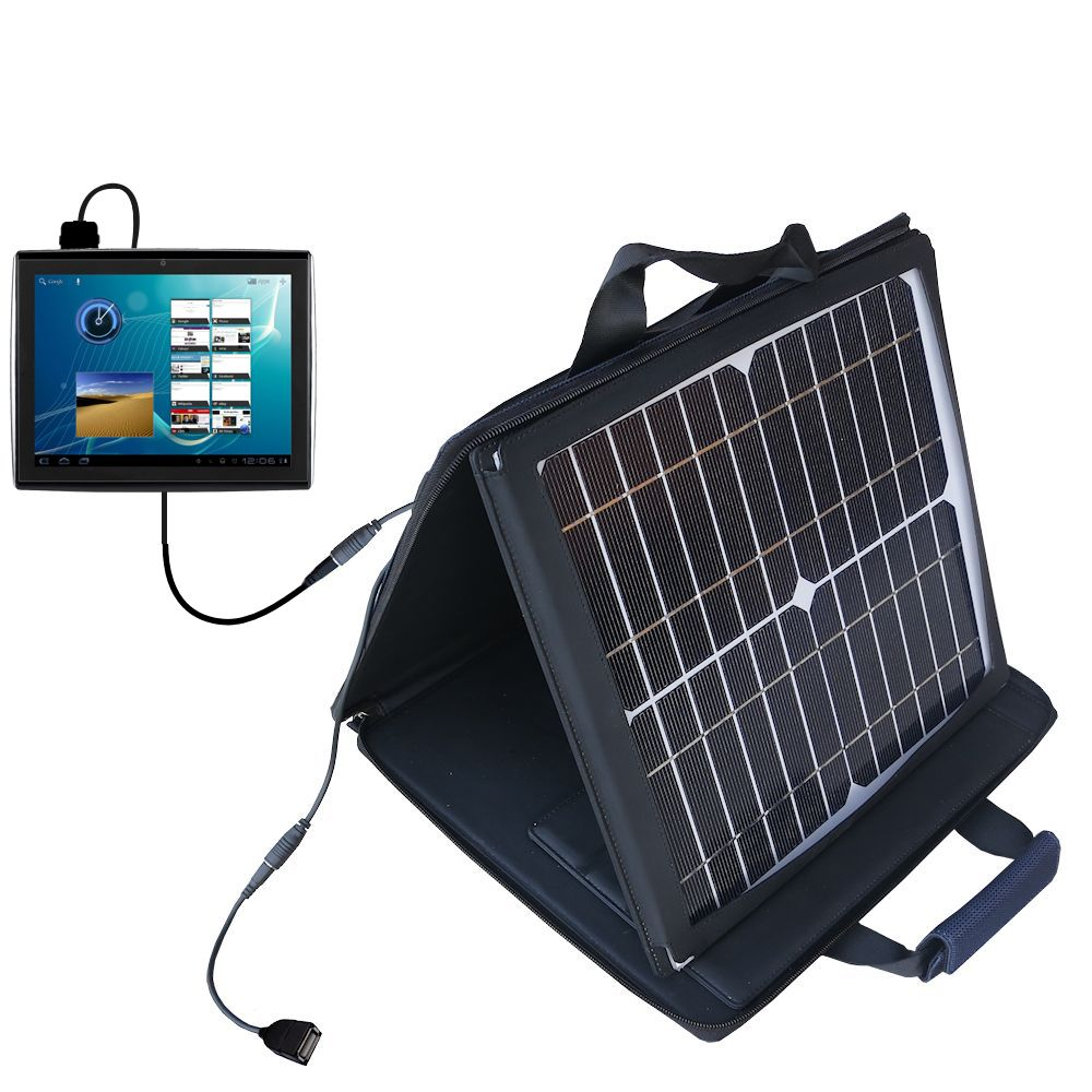 Gomadic SunVolt High Output Portable Solar Power Station designed for the Le Pan TC979 / Le Pan II  - Can charge multiple devices with outlet speeds