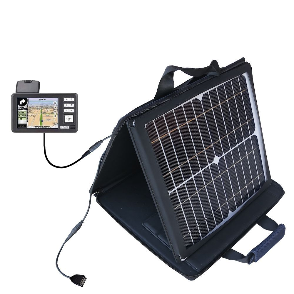 Gomadic SunVolt High Output Portable Solar Power Station designed for the Mio 169 - Can charge multiple devices with outlet speeds