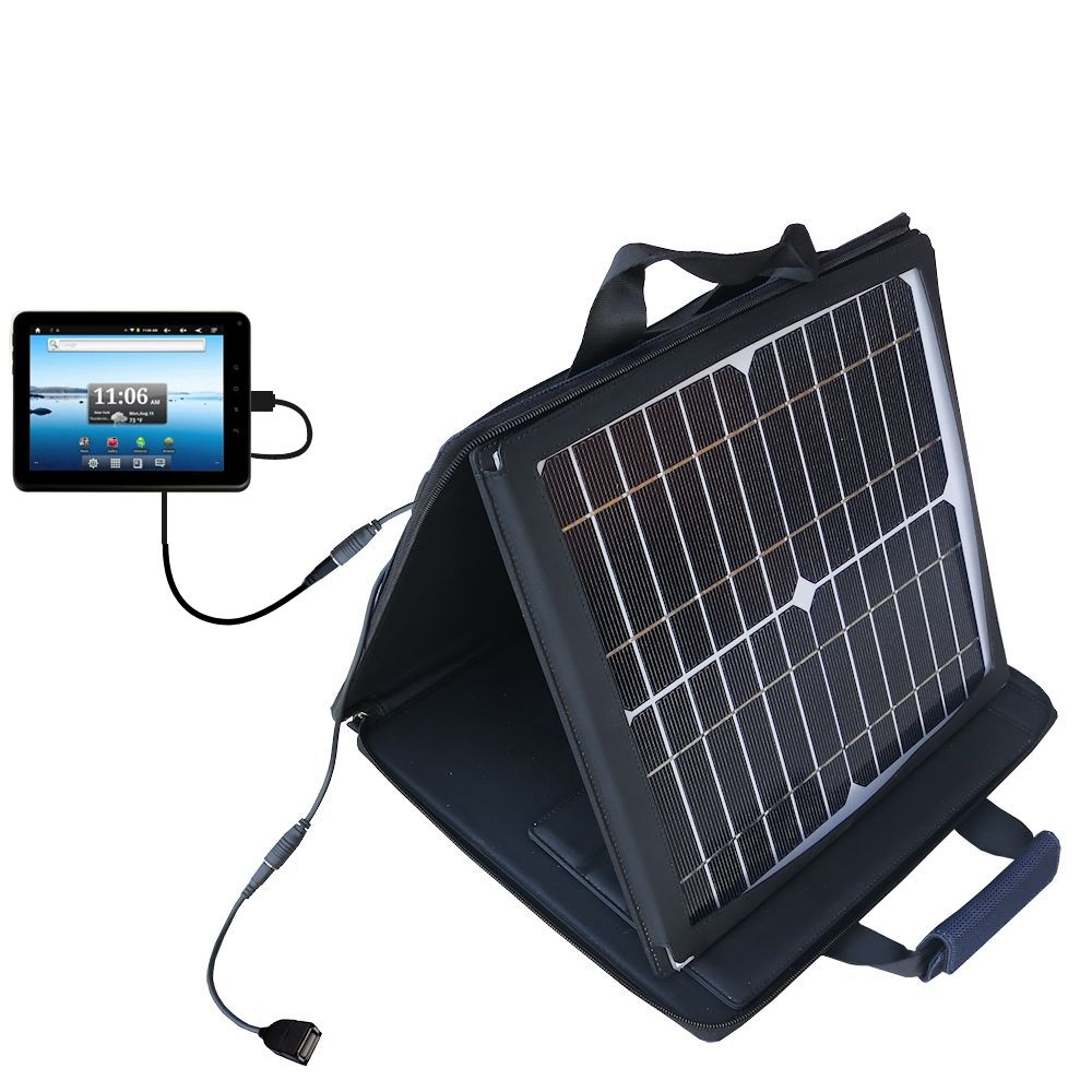 Gomadic SunVolt High Output Portable Solar Power Station designed for the Nextbook Premium8 Tablet - Can charge multiple devices with outlet speeds