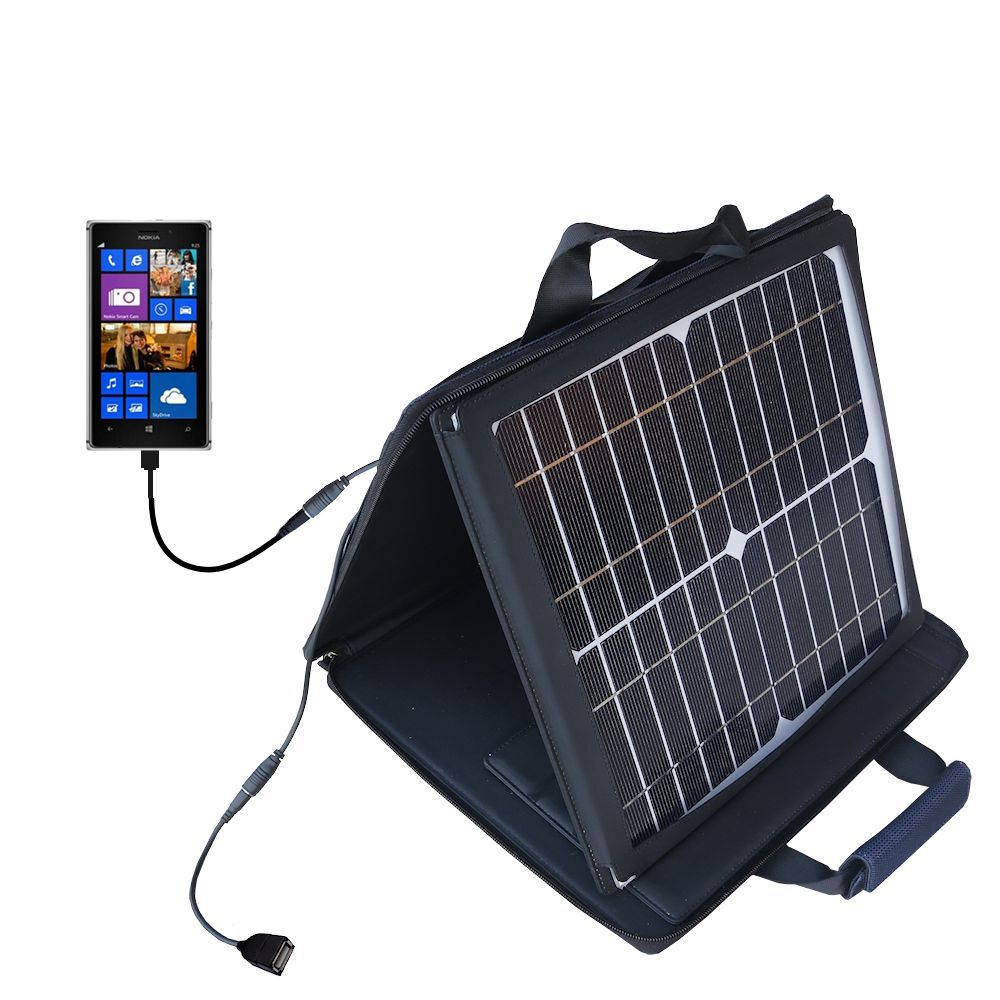 Gomadic SunVolt High Output Portable Solar Power Station designed for the Nokia Lumia 925 - Can charge multiple devices with outlet speeds