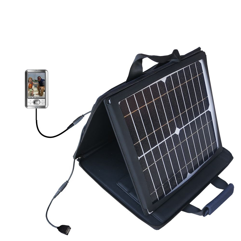 Gomadic SunVolt High Output Portable Solar Power Station designed for the Palm LifeDrive - Can charge multiple devices with outlet speeds
