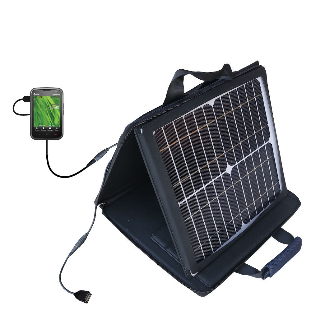 Gomadic SunVolt High Output Portable Solar Power Station designed for the Pantech Renue - Can charge multiple devices with outlet speeds