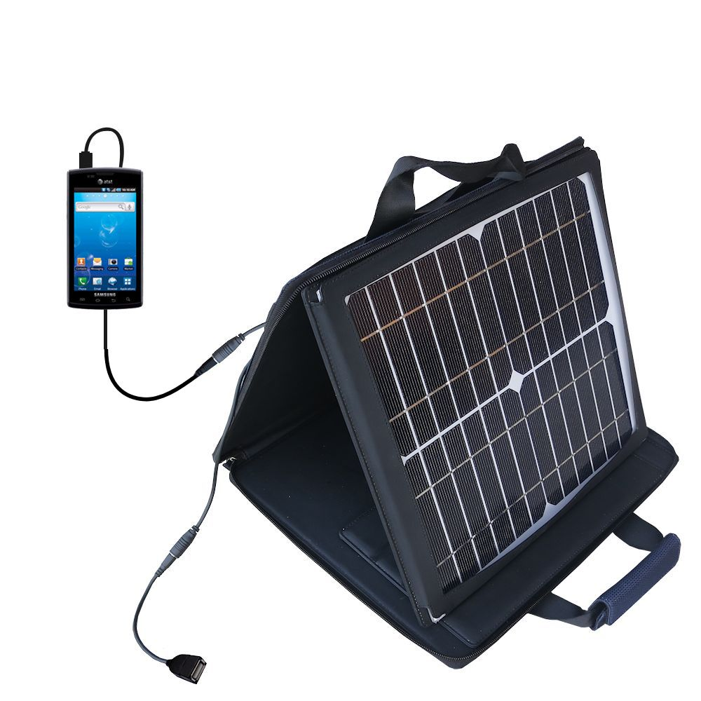 Gomadic SunVolt High Output Portable Solar Power Station designed for the Samsung Captivate - Can charge multiple devices with outlet speeds