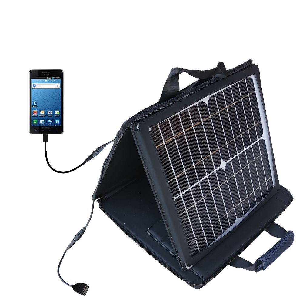 Gomadic SunVolt High Output Portable Solar Power Station designed for the Samsung Infuse 4G - Can charge multiple devices with outlet speeds