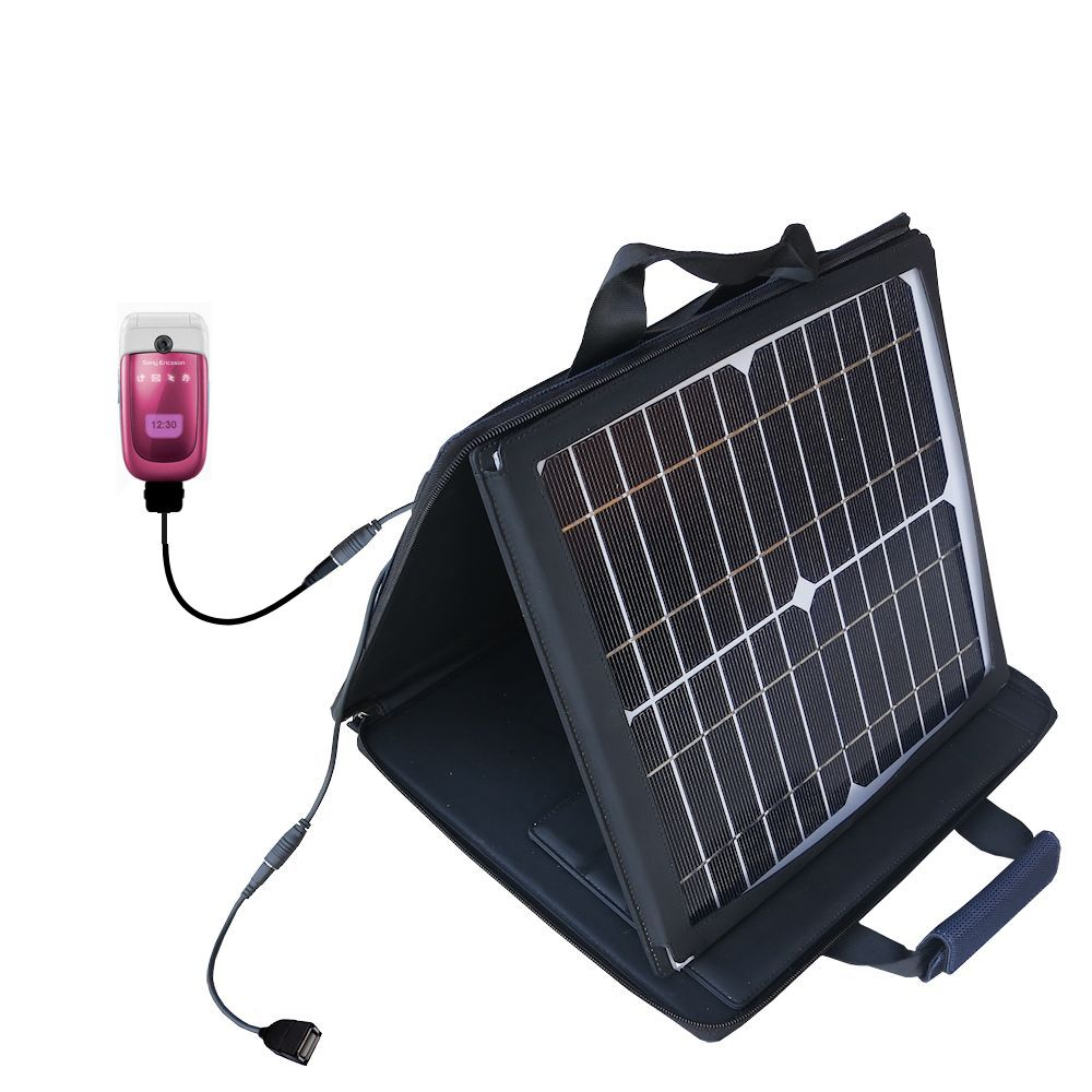 Gomadic SunVolt High Output Portable Solar Power Station designed for the Sony Ericsson z310i - Can charge multiple devices with outlet speeds
