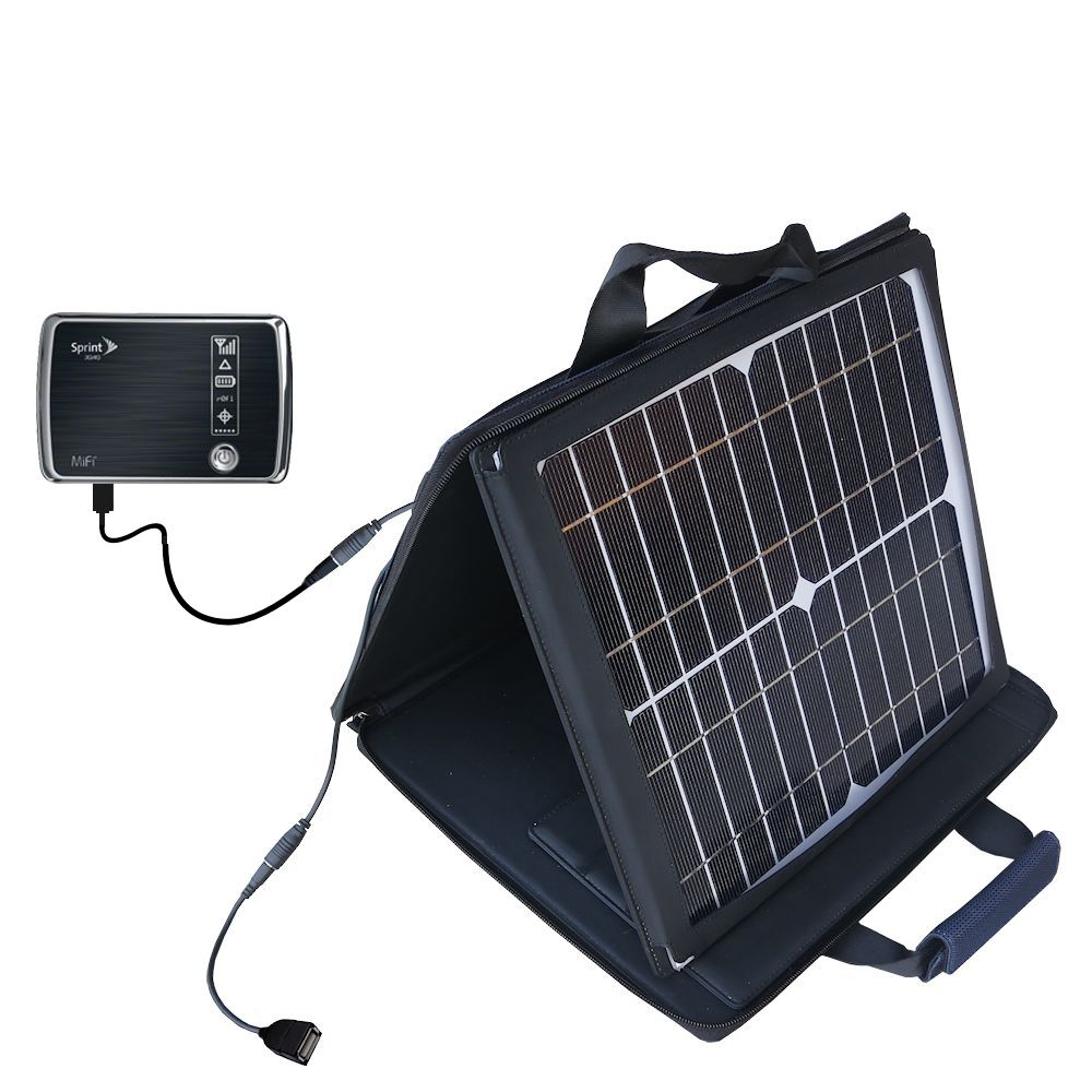 Gomadic SunVolt High Output Portable Solar Power Station designed for the Sprint 3G/4G Mobile Hotspot - Can charge multiple devices with outlet speeds
