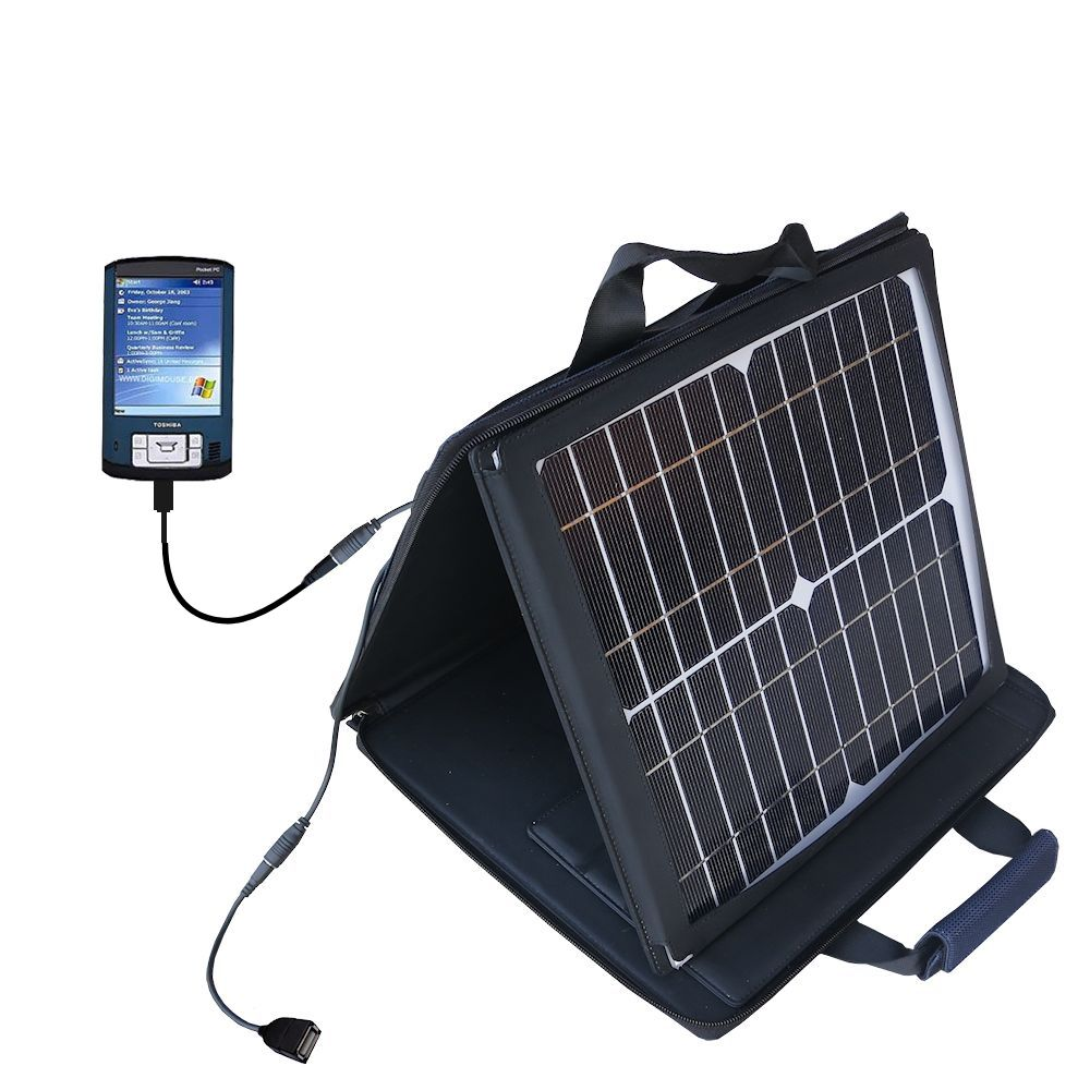 Gomadic SunVolt High Output Portable Solar Power Station designed for the Toshiba e805 - Can charge multiple devices with outlet speeds