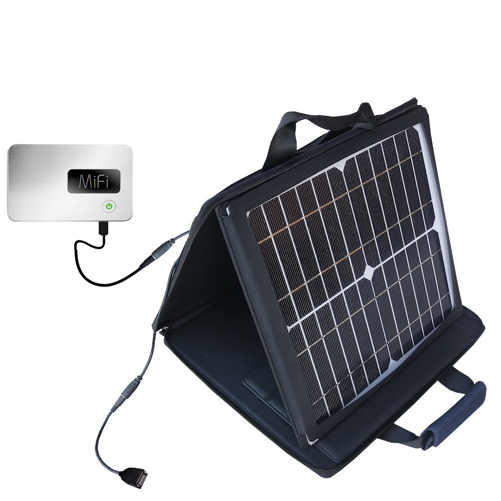 Gomadic SunVolt High Output Portable Solar Power Station designed for the Walmart Internet on the Go - Can charge multiple devices with outlet speeds