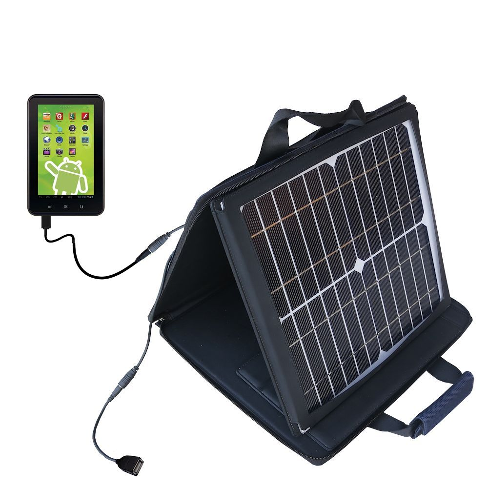 Gomadic SunVolt High Output Portable Solar Power Station designed for the Zeki 7 Tablet TB782B - Can charge multiple devices with outlet speeds