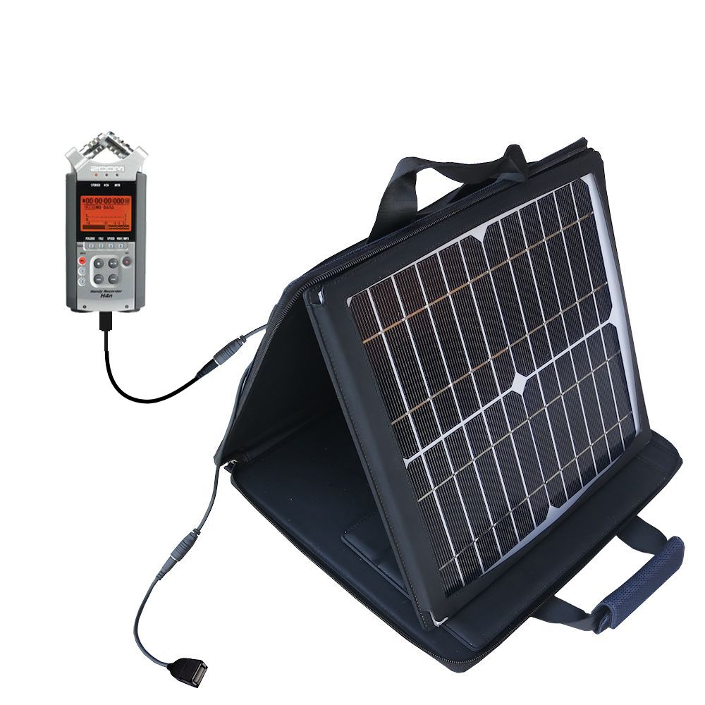 SunVolt Solar Charger compatible with the Zoom H4n and one other device - charge from sun at wall outlet-like speed