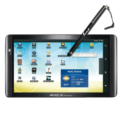Gomadic Precision Tip Capacitive Stylus Pen designed for the Archos 101 Internet Tablet (Black Color) - Lifetime Warranty