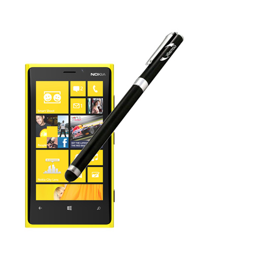 Gomadic Precision Tip Capacitive Stylus designed for the Nokia Lumia 920 with Integrated Ink Ballpoint Pen - Lifetime Warranty